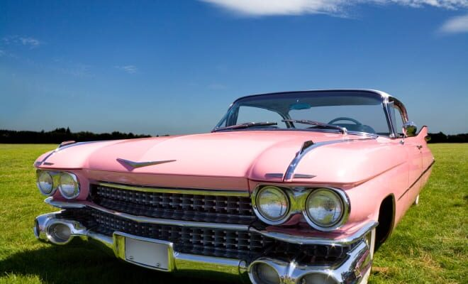 Pink American Automobile